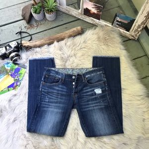☽ Vintage Lucky Brand Crop Button Fly's☽